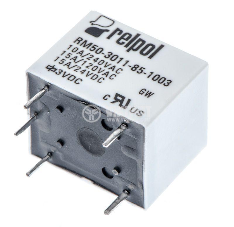 Реле, електромагнитно RM50-3011-85-1003, бобина 3VDC, 240VAC, 10A , SPDT - 2