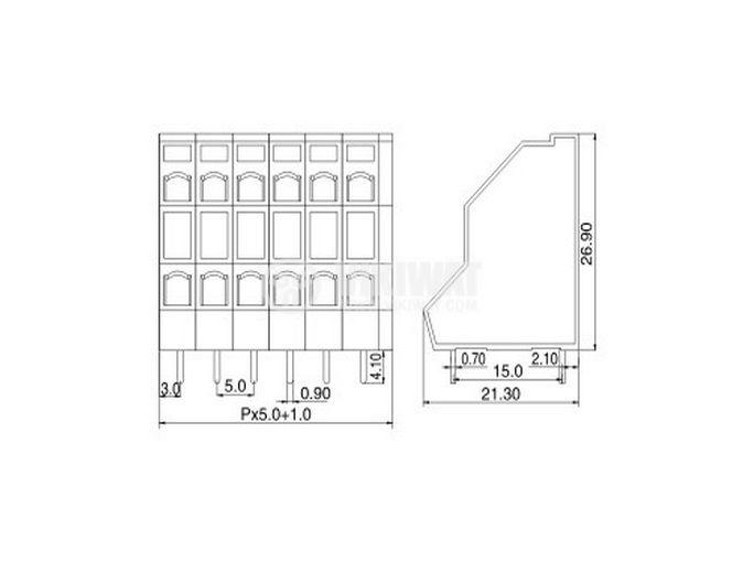 Терминален блок KFM736 - 5.0 - 2