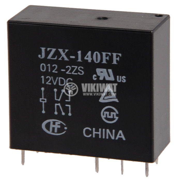 Електромагнитно универсално  реле, JZX-140FF, 12VDC 250VAC/5A DPDT -2NO+2NC - 1
