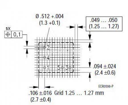 Електромагнитно автомобилно реле бобина 12VDC 14VDC/10A SPDT - NO+NC V23072-C1059-W002  - 2