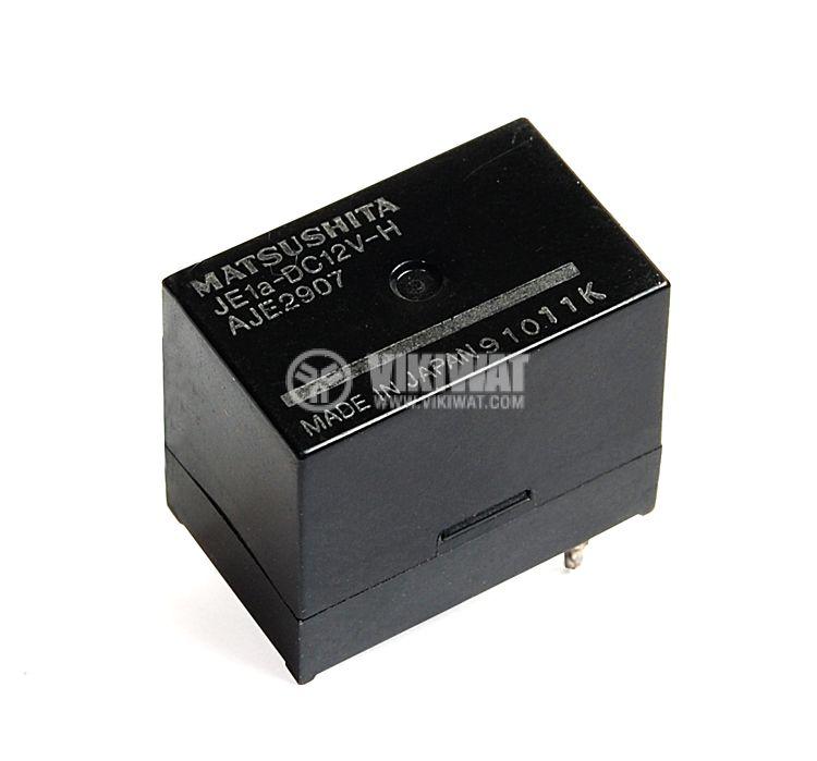 Реле електромагнитно, JE1A, 12VDC 220VAC/5A SPST NO