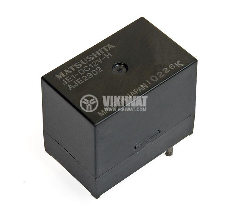 Реле електромагнитно универсално, H-JE1, 12VDC 250VAC/5A SPDT NO+NC