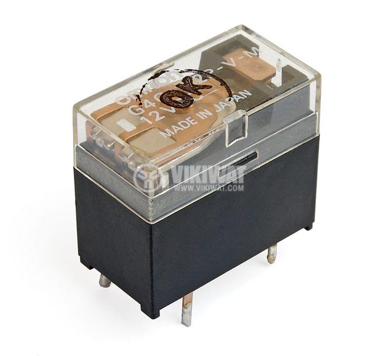 Реле електромагнитно, G4C-112P-V-M, 12 VDC, 250 VAC/5 A SPDT NO+NC - 1