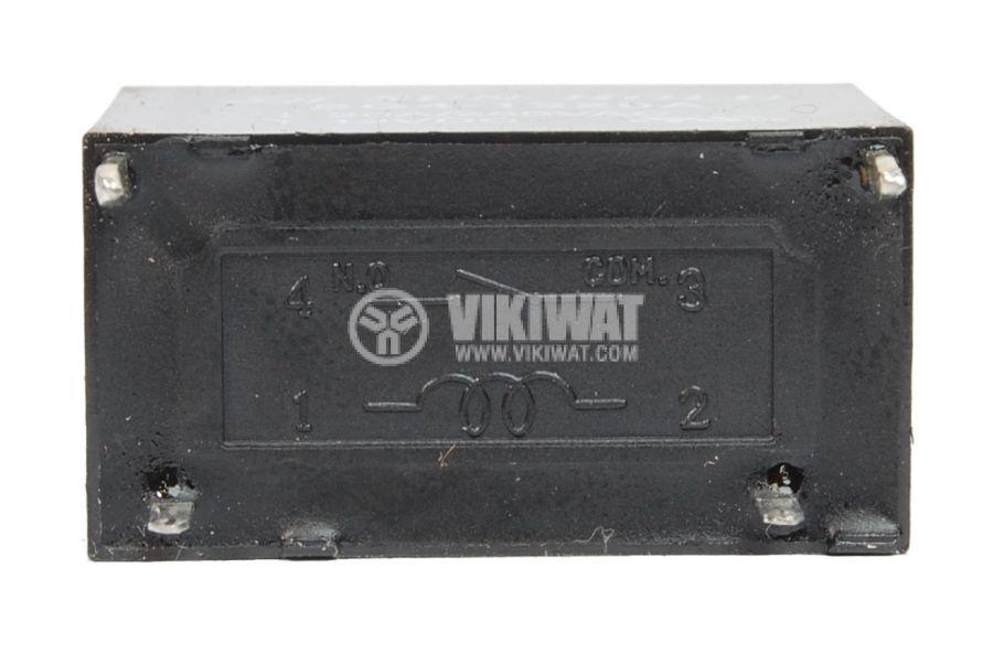 Реле електромагнитно универсало, бобина 12VDC, 250VAC/20A, SPST NO, SG4-1220A - 2