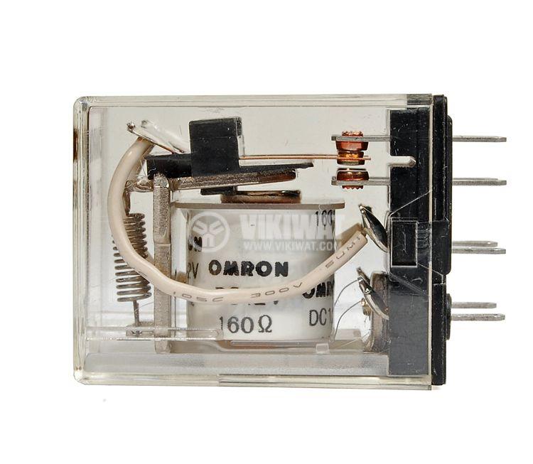 Електромагнитно реле, MY2 ,12 VDC, 250 VAC, 5 A, DPDT 2NO+2NC - 2