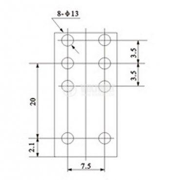 Електромагнитно реле JQX-14FC2Z с бобина 12V - 2