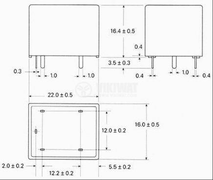 Реле електромагнитно, PCE-124D1H, 24VDC 240VAC/10A  SPDT-NO+NC - 2