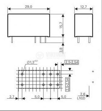 Реле електромагнитно RT314006 - 2