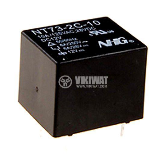 Реле електромагнитно, NT73-2C-10, 9VDC 125VAC/10A  SPDT-NO+NC - 1