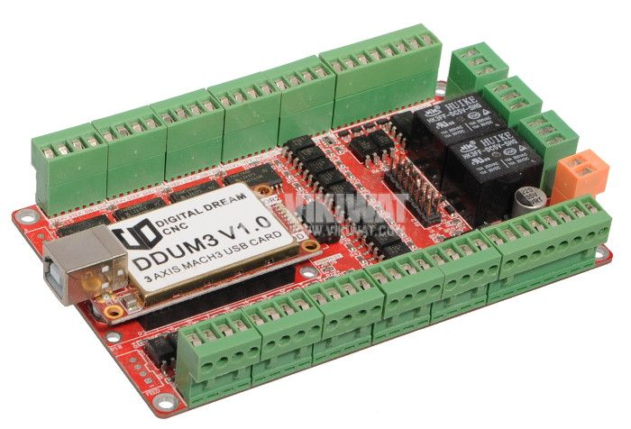 Digital Dream CNC DDUM3 V1.0 USB Card 3 Axis USB Controller Board  - 1