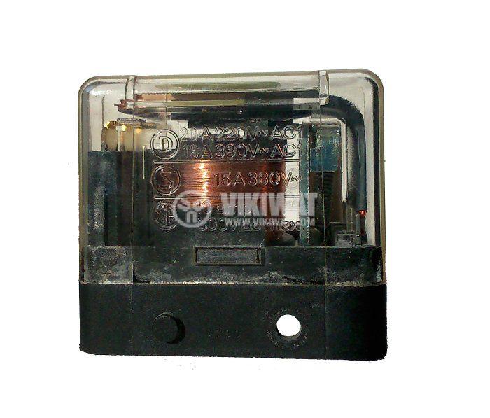 Реле 24VDC, 220VAC/10A, 3NO, 8pin пера - 1
