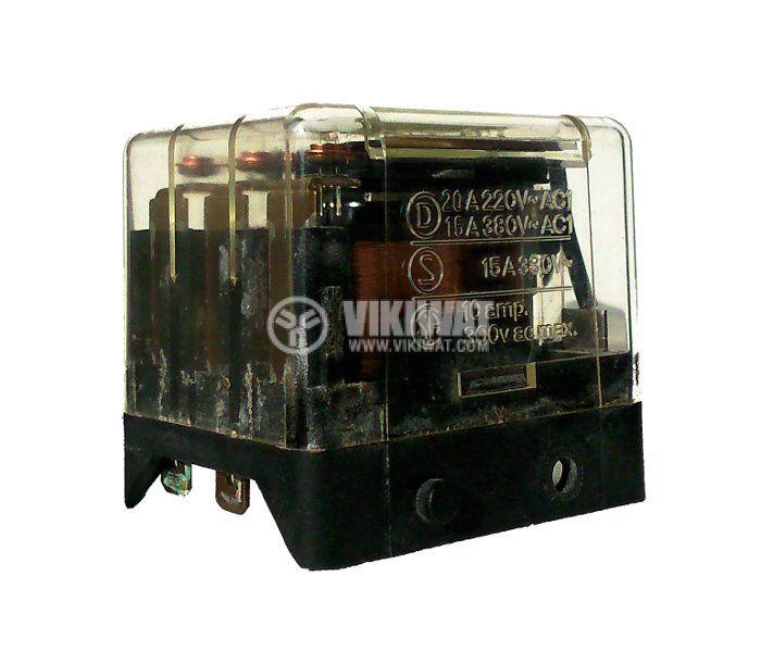 Реле 24VDC, 220VAC/10A, 3NO, 8pin пера - 2