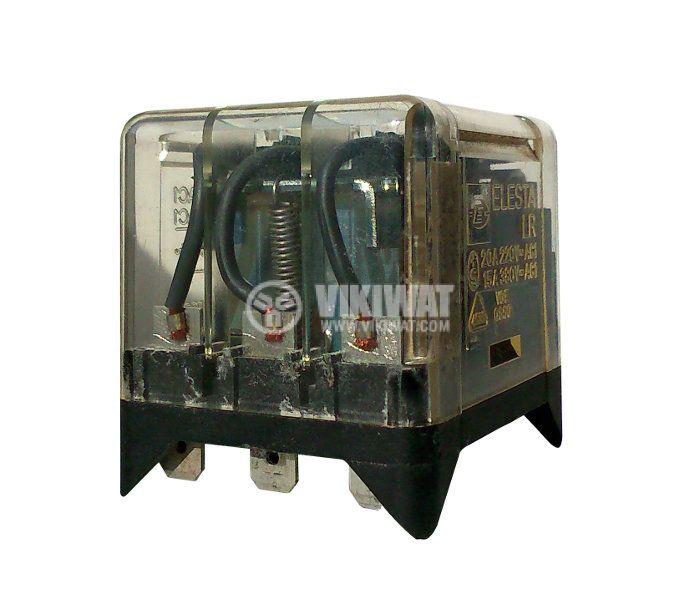 Реле 24VDC, 220VAC/10A, 3NO, 8pin пера - 3