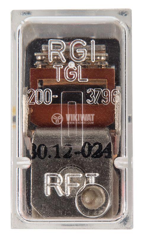 Реле електромагнитно TGL 200.3796 30.12.024, бобина 24VDC, 250VAC/3A, DPDT - 2NO+2NC - 3