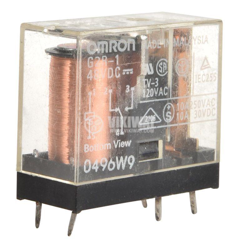 Електромагнитно универсално реле, G2R-1, 48VDC  250VAC/10A SPDT - NO+NC - 1