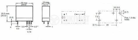 Електромагнитно универсално реле, G2R-1, 48VDC  250VAC/10A SPDT - NO+NC - 2