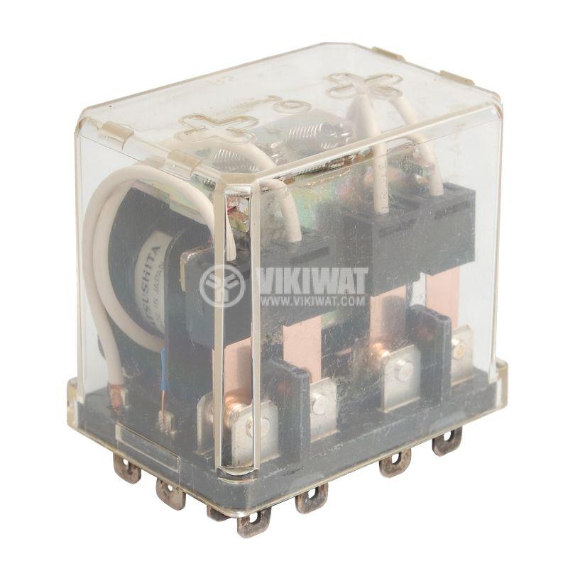 Реле електромагнитно универсално, AW5148, 220VAC 250VAC/10A  4PDT-4NO+4NC - 1