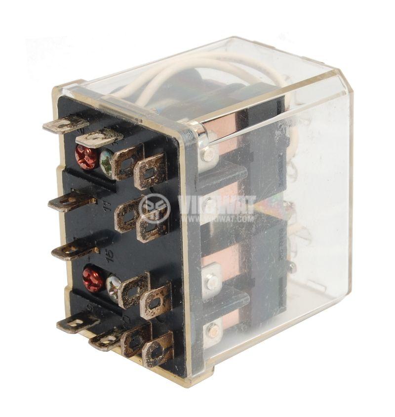 Реле електромагнитно универсално, AW5148, 220VAC 250VAC/10A  4PDT-4NO+4NC - 2