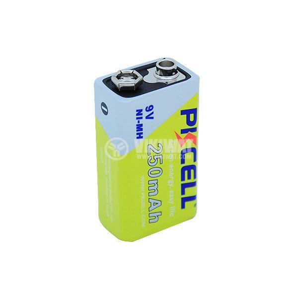 Акумулаторна батерия 6F22, 8.4VDC, 6P, 250mAh
