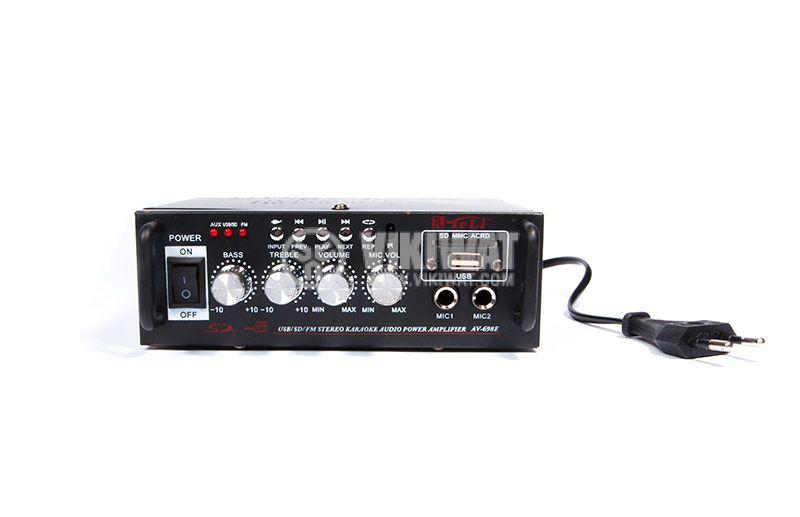 Amplifier AV-698E, 180+180W, karaoke, USB port, SD slot, FM tuner - 2