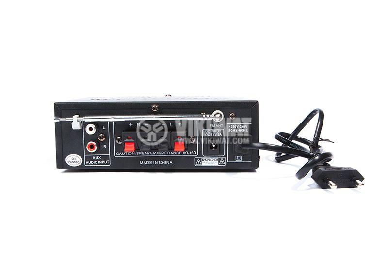 Amplifier AV-698E, 180+180W, karaoke, USB port, SD slot, FM tuner - 3