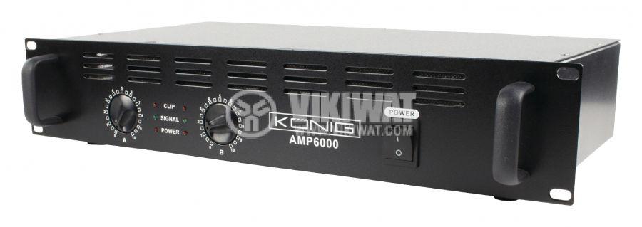 Professional amplifier PA-AMP6000-KN 2x170W, 2x100W - 1