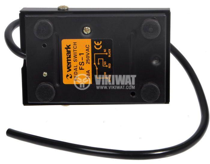 Крачен превключвател FS-1, 220 VAC, 10 А, SPDT, NO+NC - 2