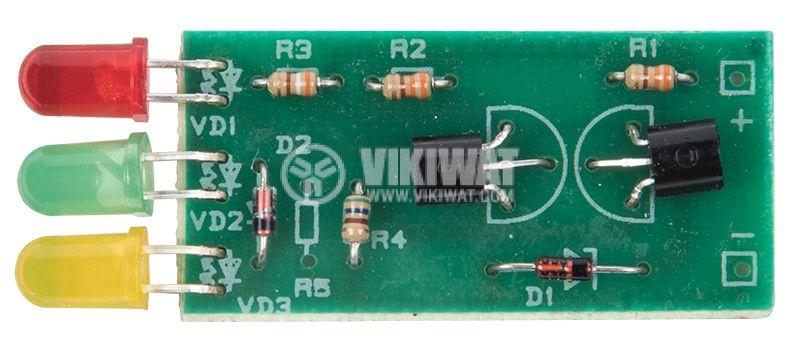 Индикатор за заряд и разряд B-211, за автомобилен акумулатор, 12VDC