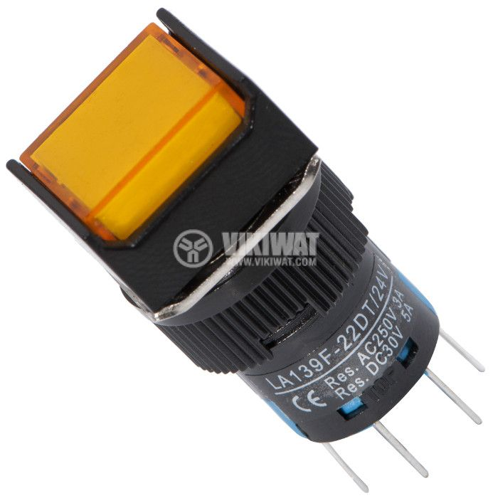 Бутон светещ тип RAFI, LA139F-22DT, 24VDC, DPDT - 2NO+2NC - 1