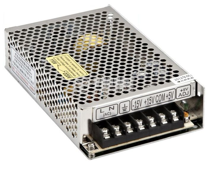 Triple output switching power supply 15VDC/1A, -15VDC/1A, 5VDC/4A, 50W, IP20, VT-50