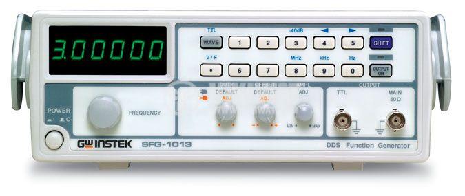 Функционален генератор SFG-1003, цифров, от 0.1 Hz до 3 MHz, индикатор напрежение - 1