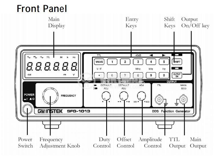 Функционален генератор SFG-1003, цифров, от 0.1 Hz до 3 MHz, индикатор напрежение - 3