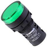 Индикаторна лампа LED, AD16-22DS, 24 VAC/VDC, зелена