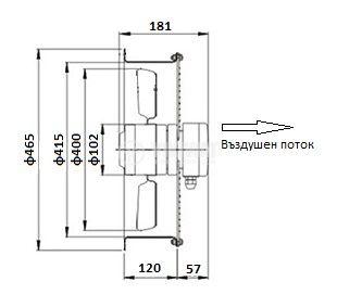 Axial duct fan VS-2E-400 220VAC - 3