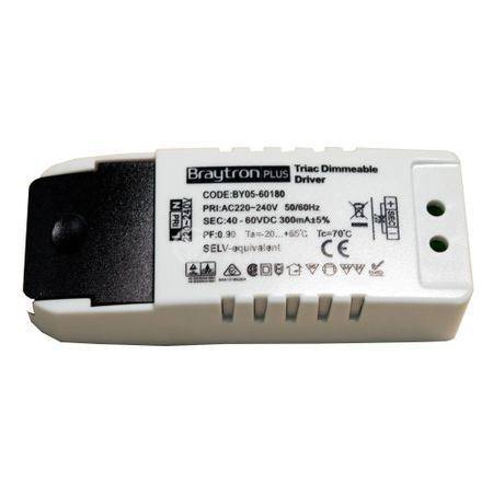 LED power supply Dimmable Driver, input voltage 220-240VAC, output voltage 40-60VDC, BY05-60180