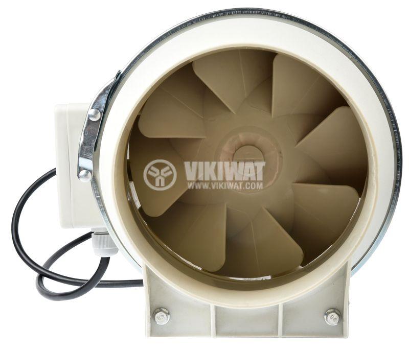Вентилатор, канален, VF-200, 220VAC, 105W, 690m3/h, ф200mm - 2