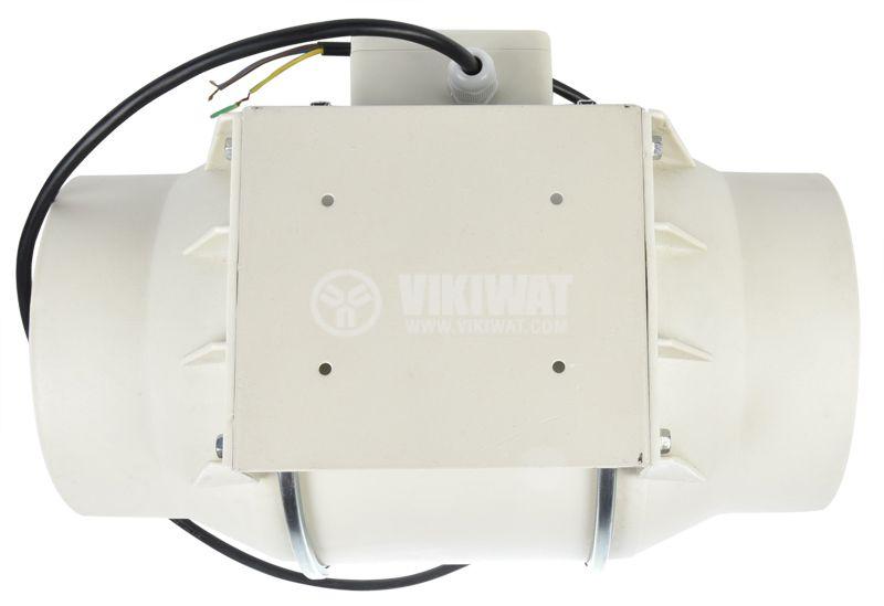 Duct fan, VF-200, 220VAC, 105W, 690m3/h, ф200mm - 4