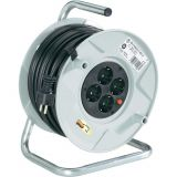 Extension reel, Brennenstuhl, 4-way, 50m, 3x1.5mm2, gray, 1099160001