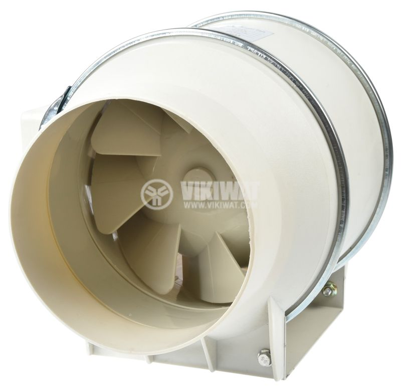 Duct fan, VF-100, 220VAC, 30W, 200m3/h, ф100mm - 1