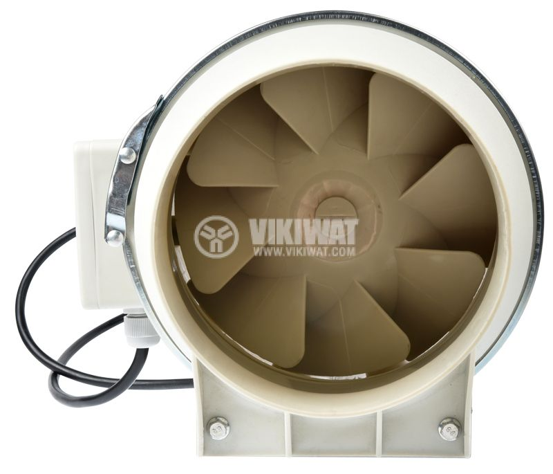 Duct fan, VF-100, 220VAC, 30W, 200m3/h, ф100mm - 2