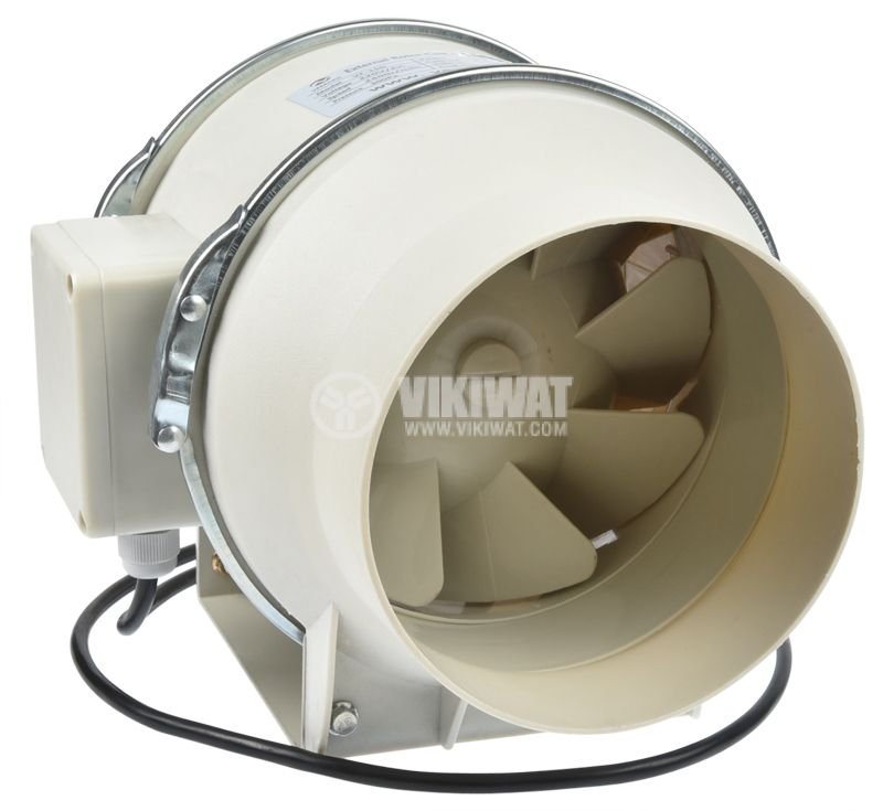 Duct fan, VF-100, 220VAC, 30W, 200m3/h, ф100mm - 3