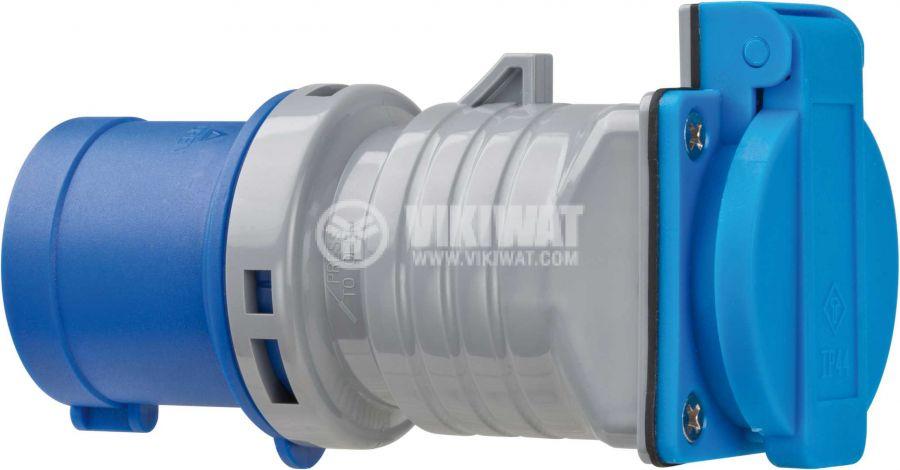 Brennenstuhl, CEE 230VAC/16A 3Pin към контакт шуко, IP44, влагозащитен, 1080990 - 3
