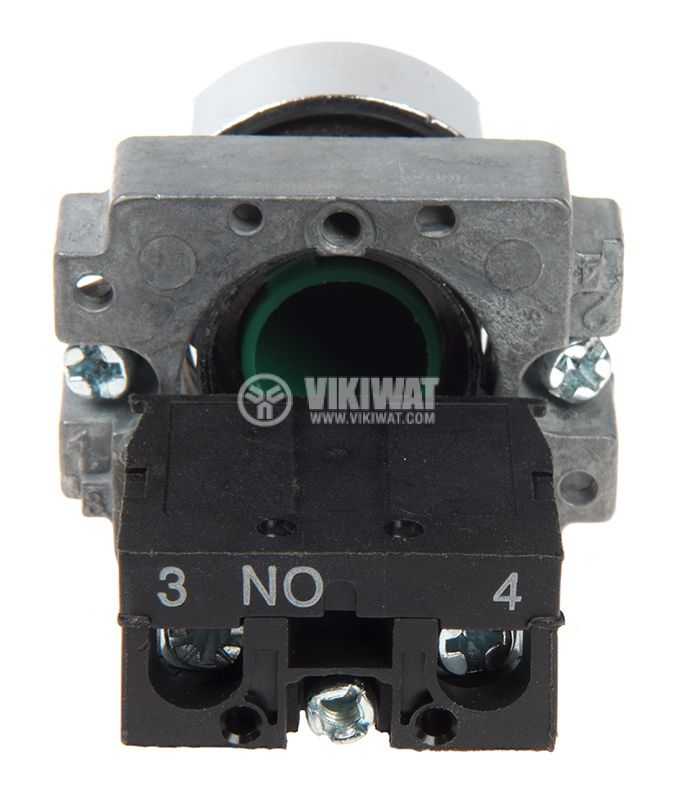 Панелен превключвател, бутон, ф22mm, 10A/240VAC, 2 позиции, SPST - 4