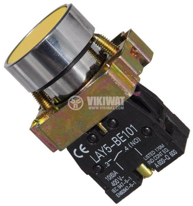 Бутон LAY5-BA51 400VAC/10A SPST - NО жълт - 1