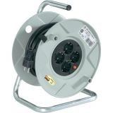 Extension reel, Brennenstuhl, 4-way, 25m, 3x1.5mm2, gray, 1099150001