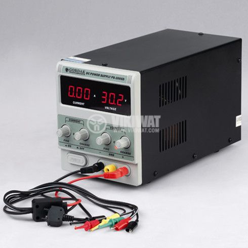 Regulated Power Supply PS-3005D, 0-30VDC, 0-5A, 1 channel, DC - 2
