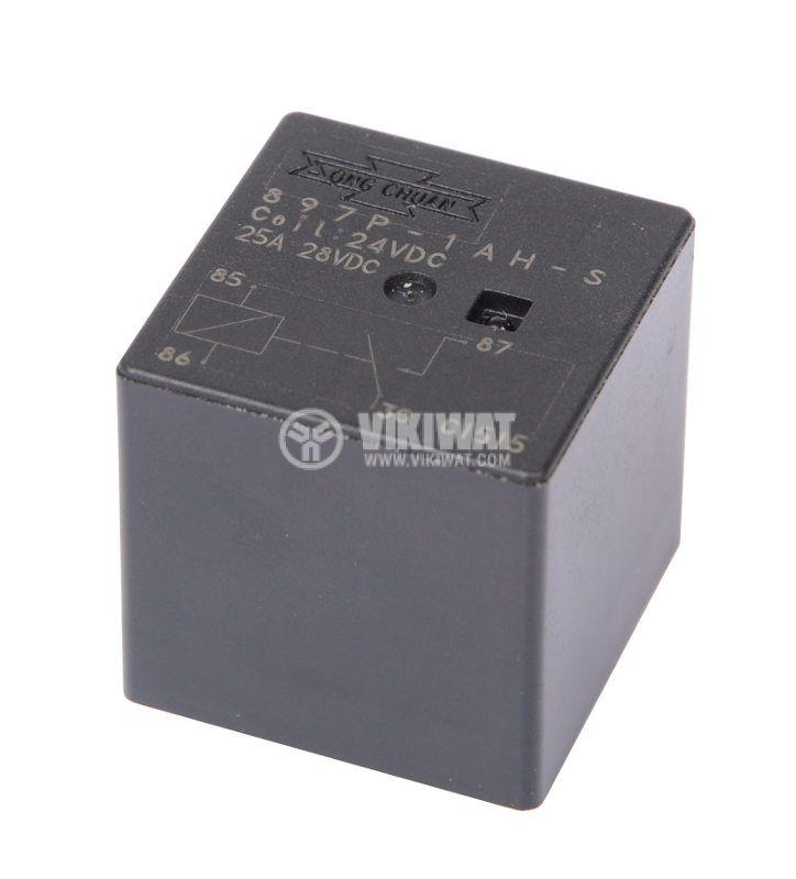 Реле, автомобилно, електромагнитно 897P-1AH-S, 24VDC, SPNO, 25A - 1