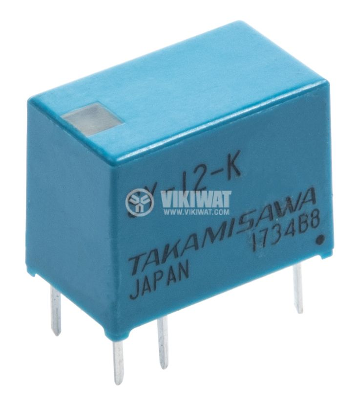Electromagnetic Relay, SPST-NO, coil 12VDC, 250VAC/5A, JV-12S-KT - 1