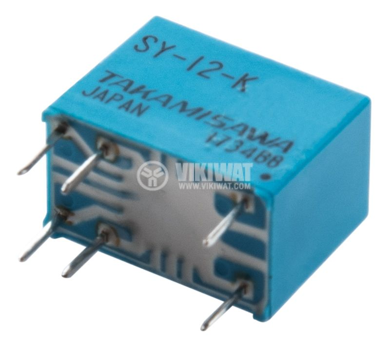 Electromagnetic Relay, SPST-NO, coil 12VDC, 250VAC/5A, JV-12S-KT - 2