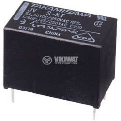 Electromechanical Relay, SPST-NO, 5VDC, 250VAC/5A, JV-5S-KT
